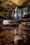 在秋天的田纳西瀑布 库存照片