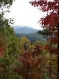 在秋天的美丽的Smokey山 图库摄影