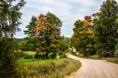 在秋天的路 图库摄影