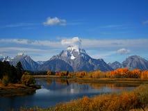 在秋天的登上Moran 库存照片