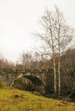 在秋天风景的桥梁 免版税库存图片