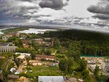 在秋明州修理围场的鸟瞰图 俄国 免版税库存图片