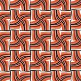 在种族样式,珊瑚颜色的传统瓦片装饰品 向量例证