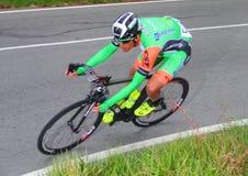 在种族的骑自行车者赛跑者 库存照片