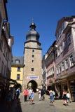 在科堡,德国的街道视图 库存图片