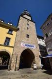 在科堡,德国的街道视图 免版税图库摄影