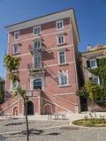 在科孚岛希腊海岛上的爱奥尼亚人学院  免版税图库摄影