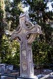 在科孚岛希腊海岛上的英国公墓  免版税图库摄影