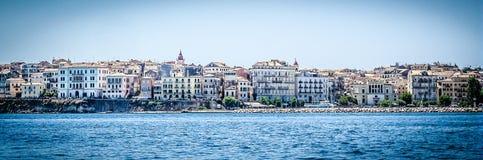 在科孚岛海岛,希腊上的Kerkyra 库存照片