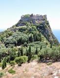 在科孚岛,希腊,欧洲海岛上的废墟  图库摄影