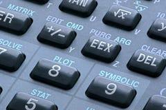 在科学计算器的钥匙 免版税库存照片