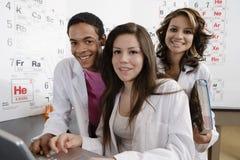在科学类的学生 库存图片
