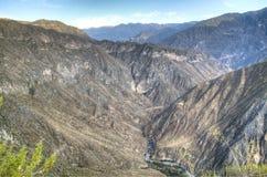在科尔卡峡谷的看法 免版税图库摄影