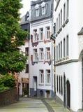 在科布伦茨的Altstadt的一个俏丽的角落 免版税库存照片