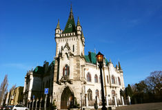 在科希策正方形的老城堡  库存照片