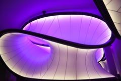 在科技馆的Winton数学画廊 设计由萨哈・哈帝建筑师 免版税库存照片