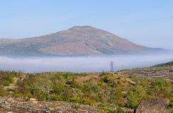 在科拉半岛的山Nittis 免版税库存图片