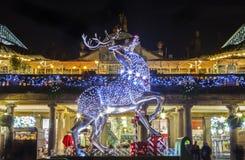 在科文特花园的圣诞节在伦敦 免版税库存图片