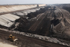 在科特布斯,勃兰登堡,德国附近的上面曝露的联合矿业 库存照片