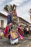 在科珀斯克里斯蒂游行的土产盖丘亚族人的人跳舞 库存照片