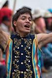 在科珀斯克里斯蒂游行的盖丘亚族人的人跳舞 免版税库存照片
