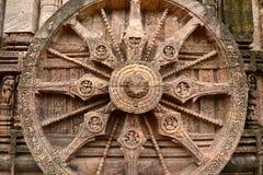 在科纳克太阳神庙(印度)的古老印度寺庙 库存图片