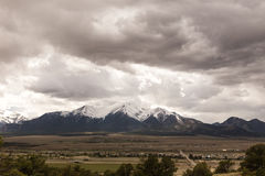 在科罗拉多山的云彩 库存图片
