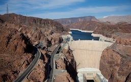 在科罗拉多河的胡佛水坝 免版税库存照片