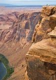在科罗拉多河的马掌峡谷在美国 免版税库存图片