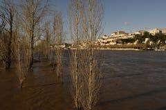 洪水在科英布拉葡萄牙 图库摄影