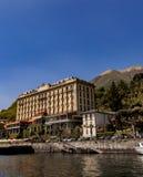 在科莫湖的圆山大饭店特雷梅佐在意大利 免版税库存图片