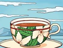 在科莫湖的英国茶 免版税图库摄影