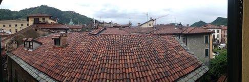在科莫的屋顶尾巴 库存图片