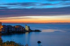 在科西嘉岛风景的日出 免版税图库摄影