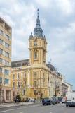 在科鲁- Napoca香港大会堂的看法在罗马尼亚 免版税库存图片