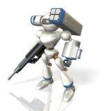 在科幻的作战机器人 图库摄影