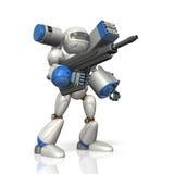 在科幻的作战机器人 免版税图库摄影