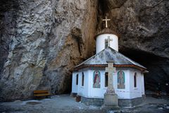 在秒-建造的Ialomita修道院 xvi 免版税图库摄影