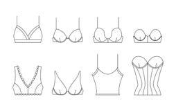 在稀薄的线型的传染媒介胸罩 免版税库存图片