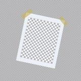 在稠粘的磁带上的现实照片框架 也corel凹道例证向量 皇族释放例证