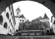 在穆卡切沃,乌克兰附近的城堡Palanok 免版税库存照片