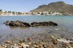 在穆尔西亚附近的海滩 库存照片