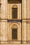 在穆罕默德阿里清真寺的窗口,开罗, Egyp萨拉丁城堡  免版税库存图片