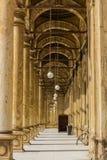 在穆罕默德阿里清真寺的道路,开罗,埃及萨拉丁城堡  免版税库存照片