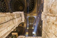 在穆罕默德・阿里里面清真寺,开罗萨拉丁城堡  库存照片