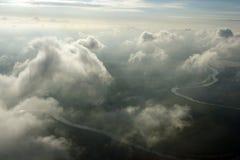 在空中云彩之上 免版税库存照片