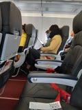 在空气公共汽车A320的亚洲航空飞行 免版税库存图片