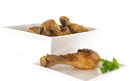 在空白牌照的鸡 免版税库存图片