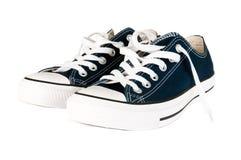 在空白的运动鞋的背景 免版税图库摄影