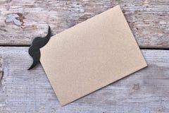 在空白纸的髭 免版税库存图片
